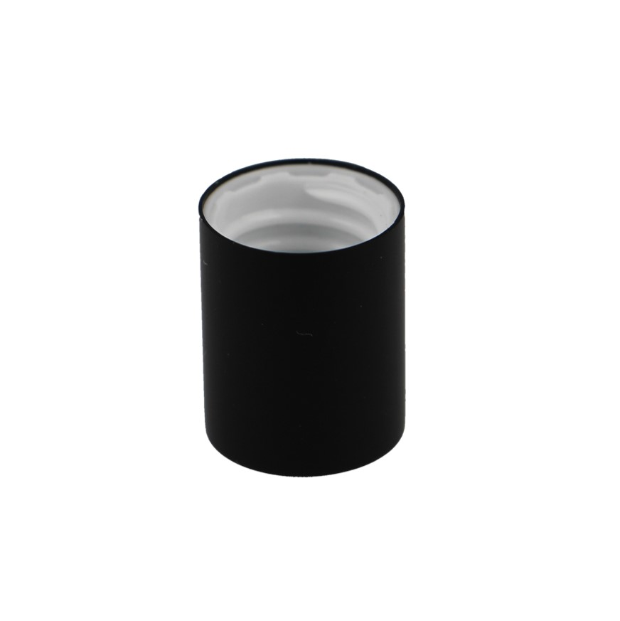 12mm Matt Black Plastic Rollette Closure, Aluminium Shelled, 18mm height