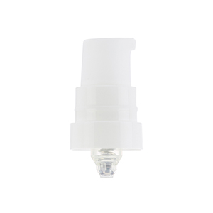 19mm White Breeze Airless Pump w/ Clear PP Overcap