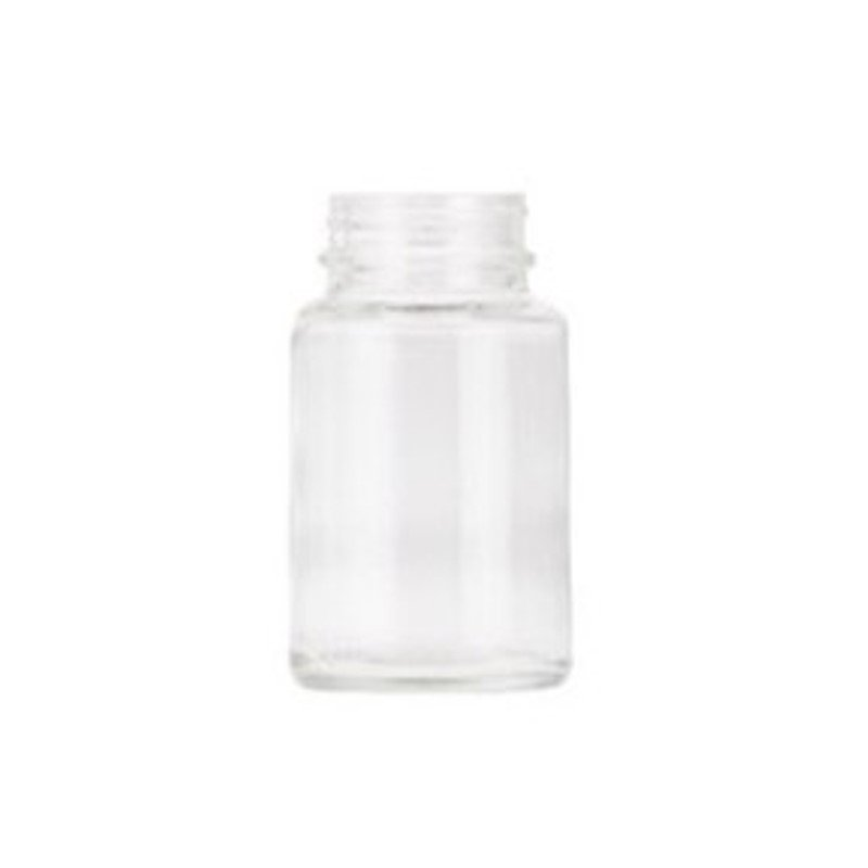100ml Clear Round Glass Powder Jar