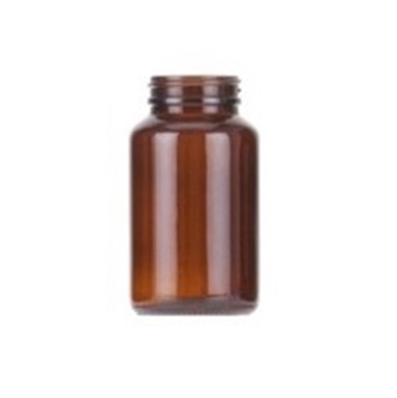 200ml Amber Glass Round Powder Jar