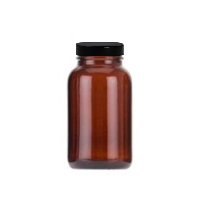 250ml Amber Glass Powder Jar, R3/48 PP Cap