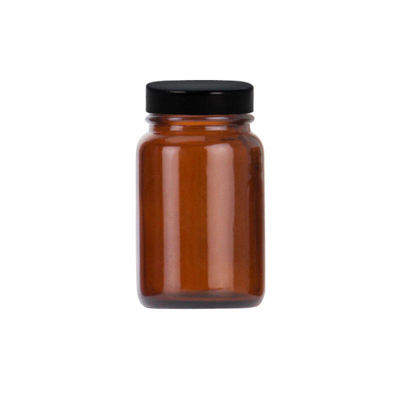 60ml Amber Glass Powder Jar, R3/38 PP Cap