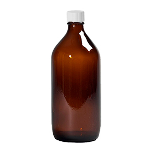 1 L Amber Winchester Bottle capped: PP Cap