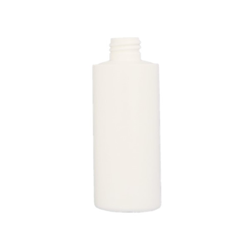 100ml White HDPE Cylindrical Round Bottle