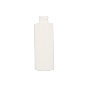 150ml White HDPE Cylindrical Round Bottle