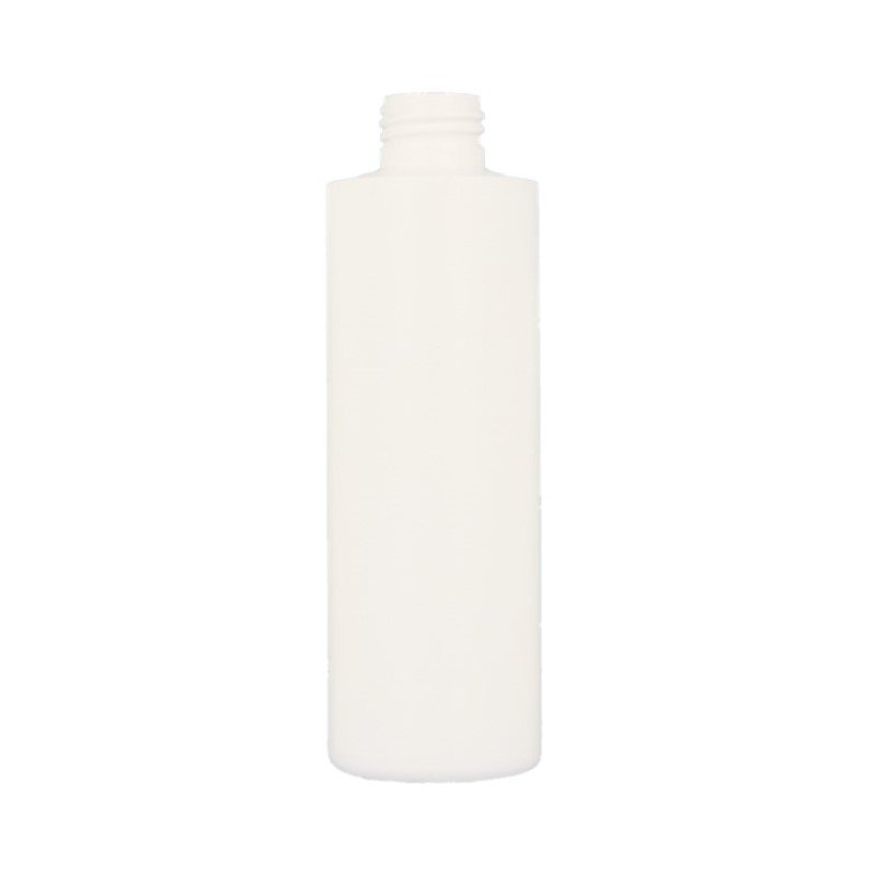 200ml White HDPE Cylindrical Round Bottle