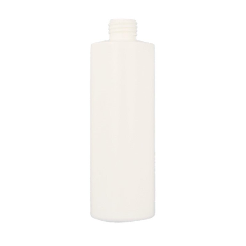 250ml White HDPE Cylindrical Round Bottle