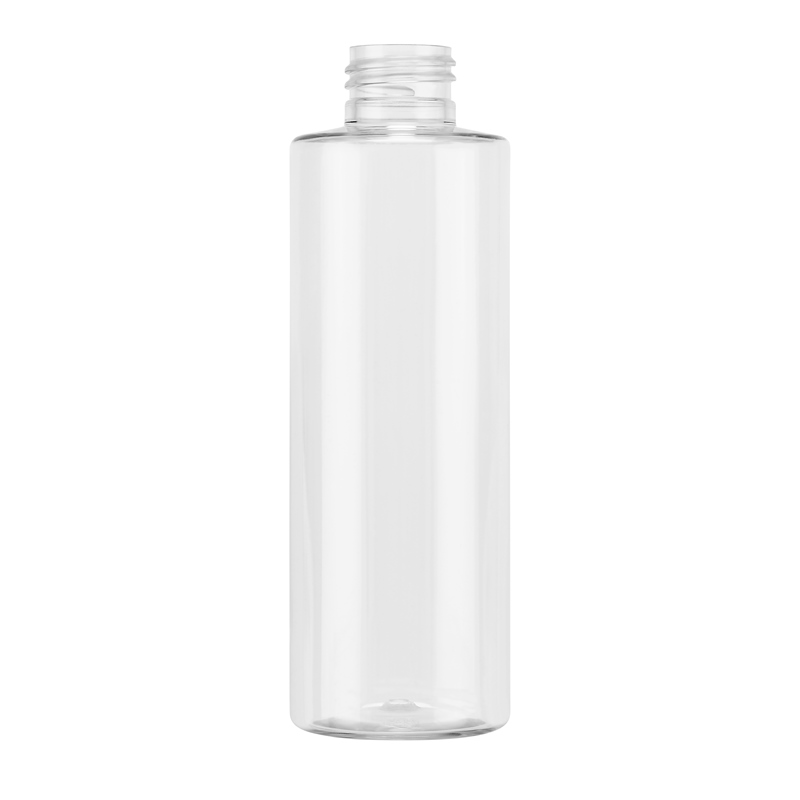 200ml Clear PET Sharp Cylindrical Bottle