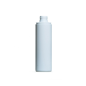200ml White HDPE Tubular Cylindrical Bottle