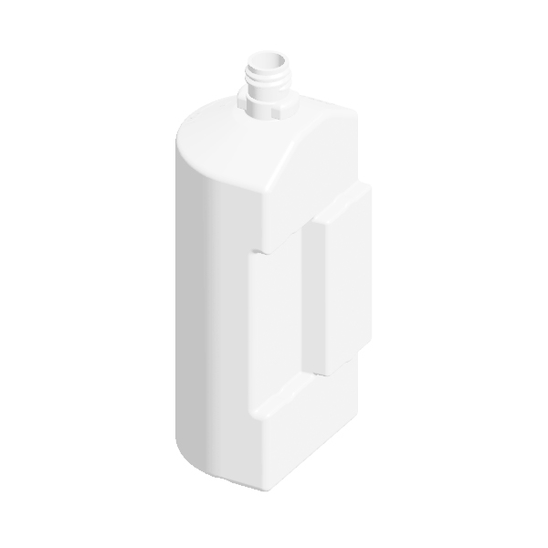 400ml White HDPE Dual Trigger-Spray Flask to fit DF Dual TS head, 38g weight