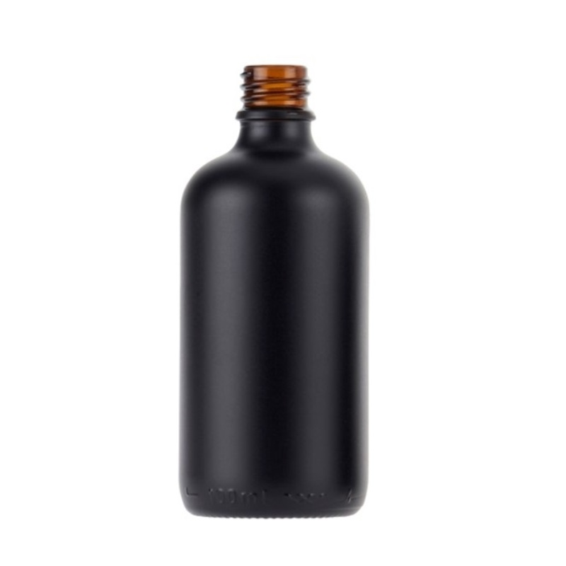 100ml Matt Black Fusion Dropper Bottle, sprayed, bagged