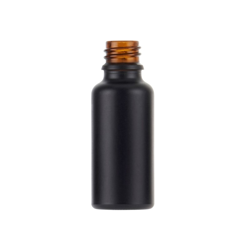 30ml Matt Black Fusion Dropper Bottle, sprayed