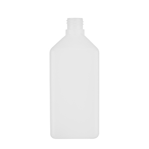 1 L Natural HDPE Heavy Square Bottle - takes 310EPEB