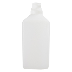 1 L Natural HDPE Heavy Square Bottle