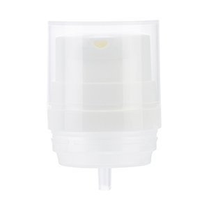 35mm White Mystique Airless Pump v2, Clear PP Overcap