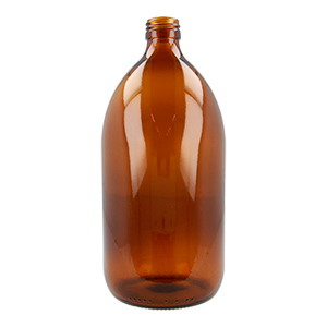 1 L Amber Medical Round Bottle