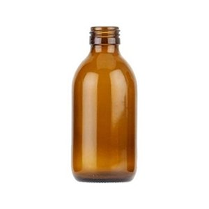 200ml Amber Medical Round Bottle
