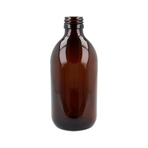 300ml Amber Medical Round Bottle