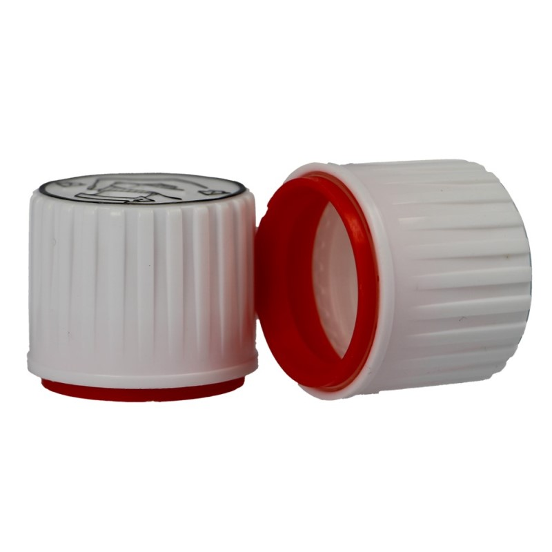 PP28 White/Red Tamper Evident Clic Loc Closure (X970)