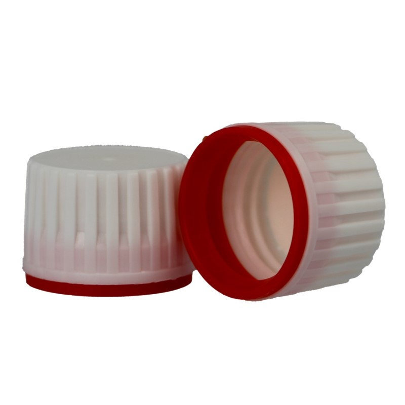 PP28 White/Red Tamper Evident Closure (X977)