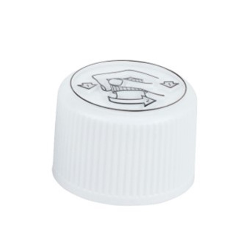 PP28 White Tamper Evident Child Resistant Closure (X987)