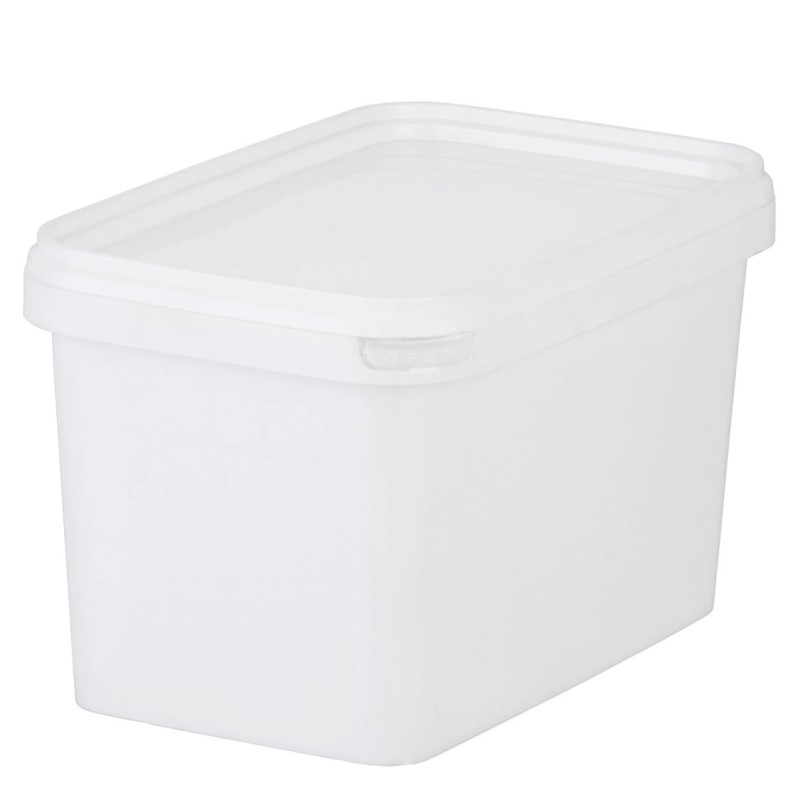 1 L White PP Rectangular Grufty Tub c/w lid