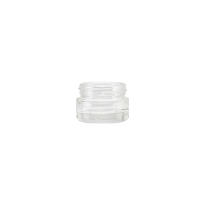 3ml Clear Round Glass Richmond Jar - takes 28RPPCB closure