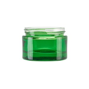 50ml Green Round Glass Richmond Jar, Sprayed