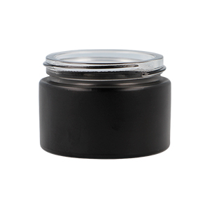 50ml Matt Black Round Glass Richmond Jar, Sprayed