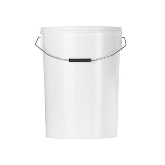 25 L White PP Round Pail (317) c/w Handle - takes 317LID