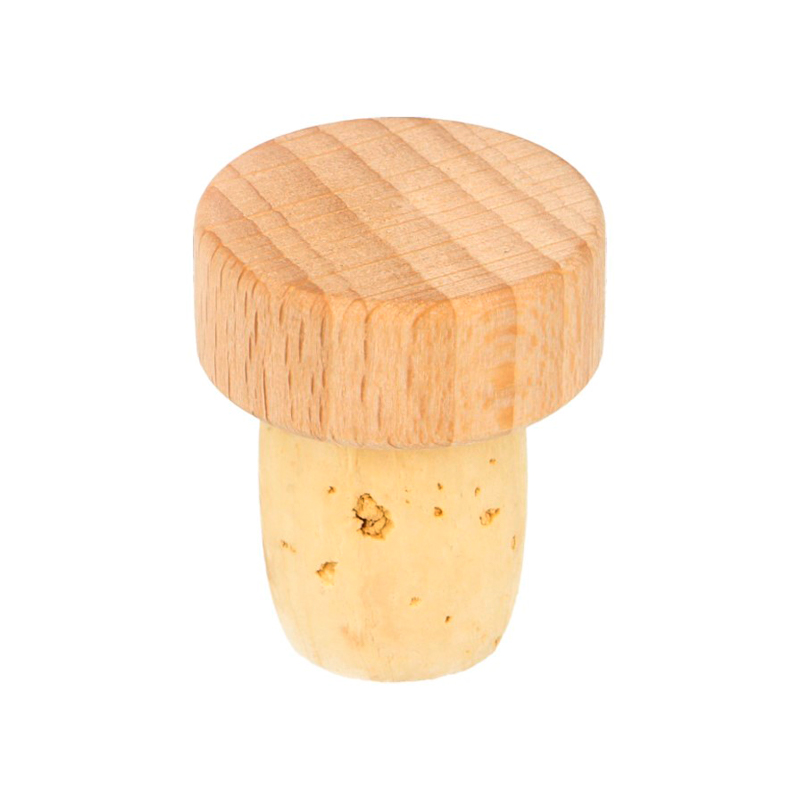 22.5mm Natural Wooden Top Stopper Unlacquered Beechwood 22.5/10 18/15