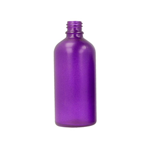100ml Purple Round Glass Skye Bottle Sprayed Purple