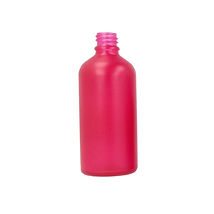 100ml Pink Round Glass Skye Bottle Sprayed Pink