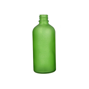 100ml Green Round Glass Skye Bottle Sprayed Green