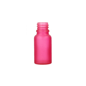 10ml Pink Round Glass Centro Bottle Sprayed Pink