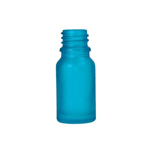10ml Blue Round Glass Skye Bottle Sprayed Blue