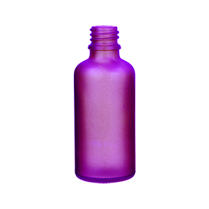 50ml Purple Round Glass Purple Skye Bottle