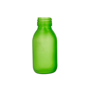 100ml Green Medical Round Bottle sprayed Green