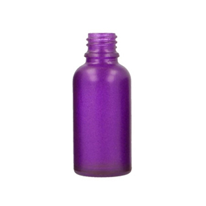 30ml Purple Round Glass Skye Bottle Sprayed Purple