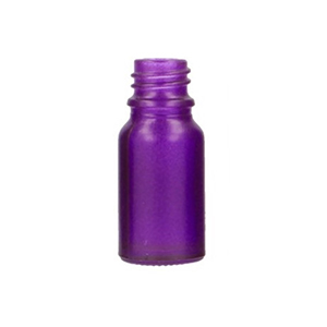 10ml Purple Round Glass Skye Bottle Sprayed Purple