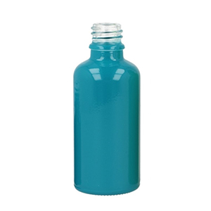 50ml Blue Round Glass Skye Bottle Sprayed Opaque Blue