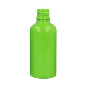 50ml Green Round Glass Skye Bottle Sprayed Opaque Green