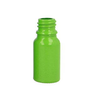 10ml Green Round Glass Skye Bottle Sprayed Opaque Green