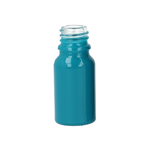 10ml Blue Round Glass Skye Bottle Sprayed Opaque Blue