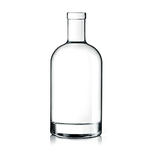700ml Clear Oslo Bottle Corkmouth