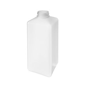 600ml White HDPE Foamer Pump Square Extra Weight Bottle