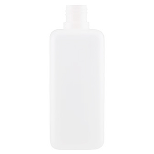500ml White HDPE Square Bottle