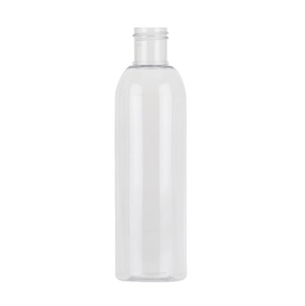 200ml Clear PET Tall Boston Round Bottle