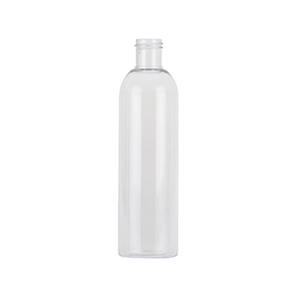 250ml Clear PET Tall Boston Round Bottle