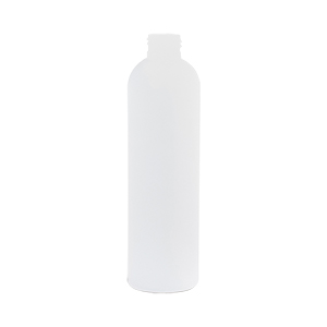 250ml Natural HDPE Tall Boston Round Bottle (J)